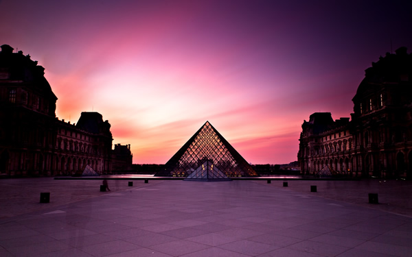 Sunset Louvre
